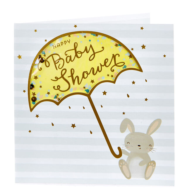 Boutique Collection Baby Shower Card - Bunny Rabbit