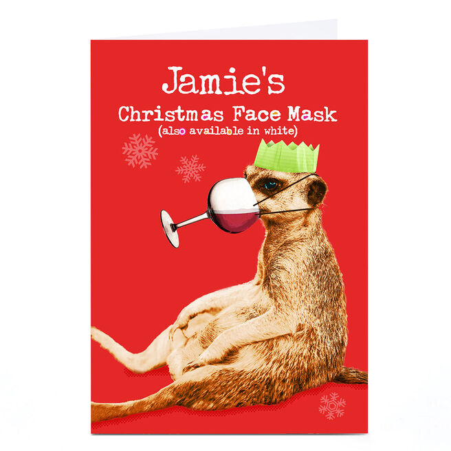 Personalised PG Quips Christmas Card - Christmas Face Mask
