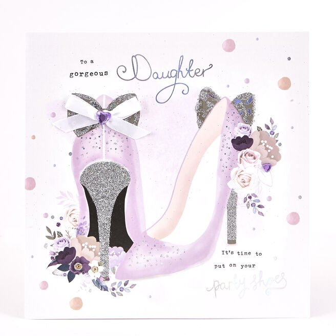 Exquisite Collection Birthday Card - Daughter, Party Shoes