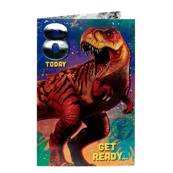 Jurassic Park 8th Birthday Card