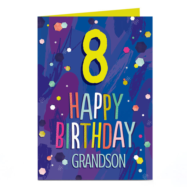 Personalised Any Age Birthday Card - Colourful Spots, Any recipient