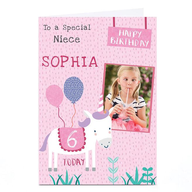 Photo Juniper & Rose Birthday Card - Unicorn