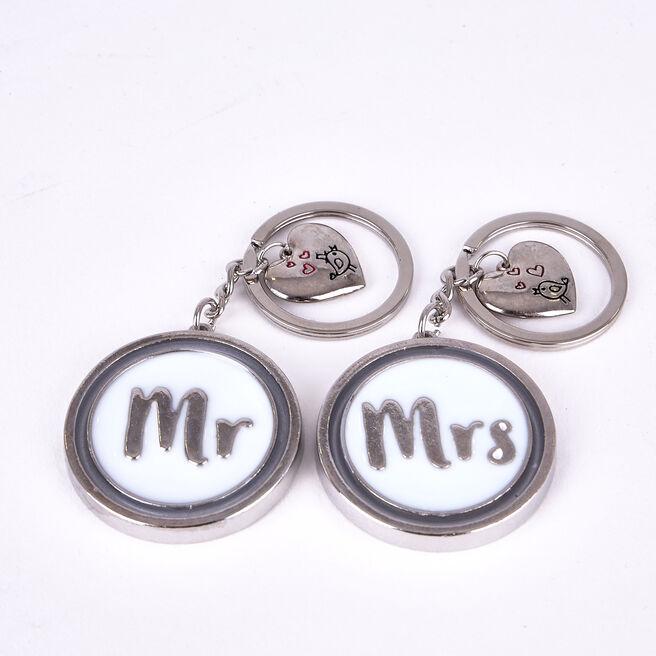 Mr & Mrs Keyring Set
