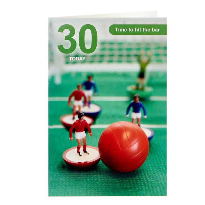 Subbuteo 30th Birthday Card