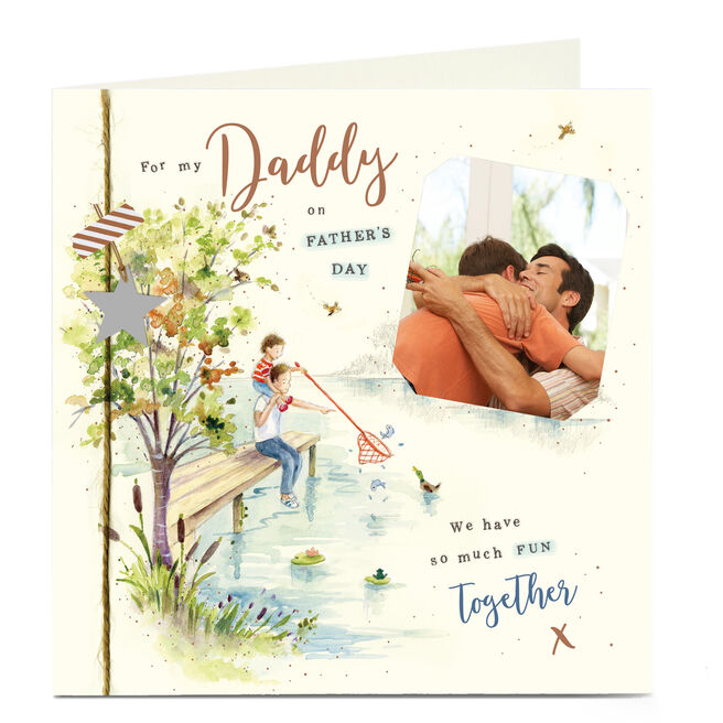 Photo Upload Father's Day Card - Daddy, So Much Fun Together