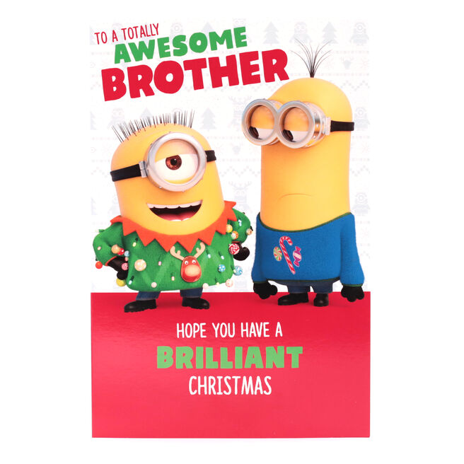 Minion Christmas Card - Awesome Brother