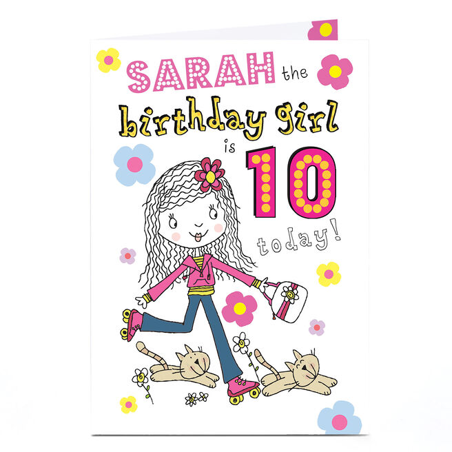 Personalised 10th Birthday Card - Birthday Girl