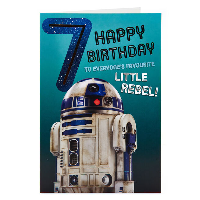 Star Wars 7th Birthday Card