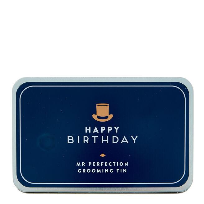 Happy Birthday Mr Perfection Grooming Tin