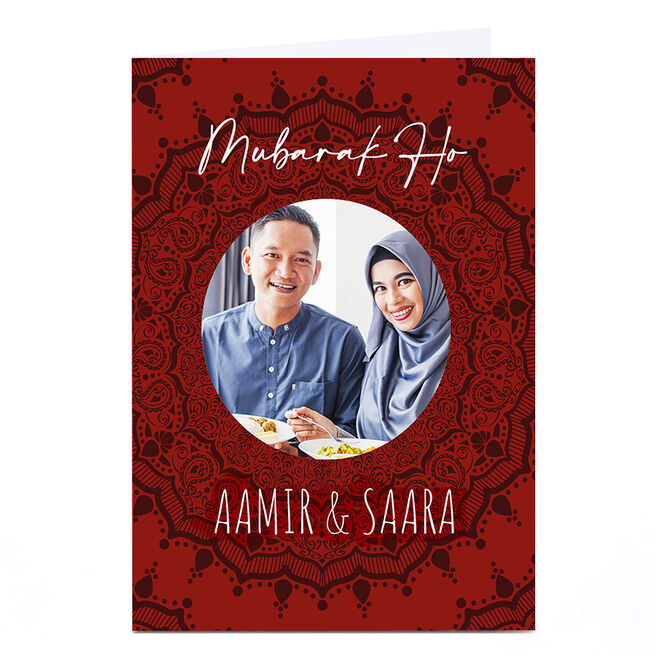 Photo Roshah Designs Congratulations Card - Mubarak Ho