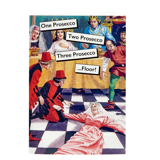Ladybird Books Card - One Prosecco, Two Prosecco...