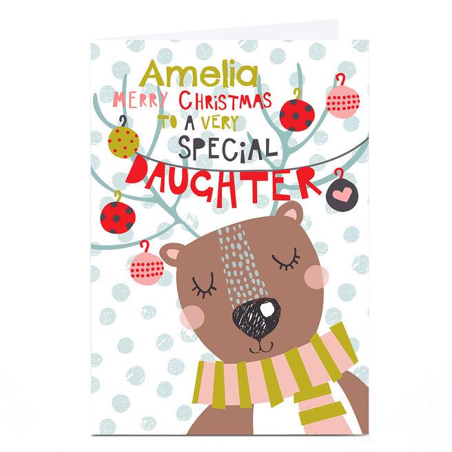 Personalised Bev Hopwood Christmas Card - Special Daughter