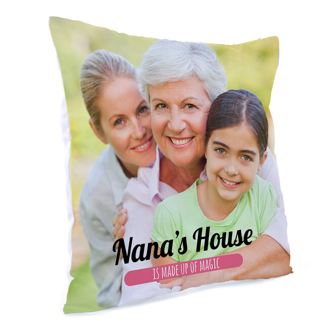 Photo Upload Message Cushion