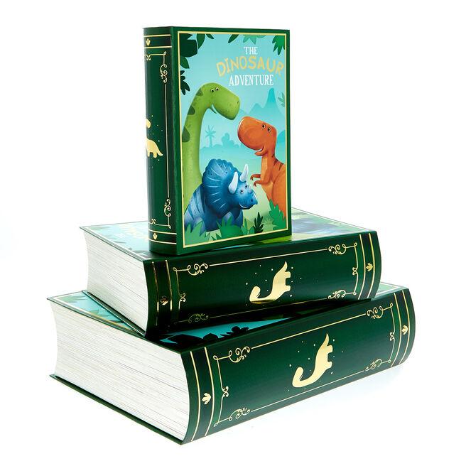 Dinosaur Book Gift Boxes - Set of 3