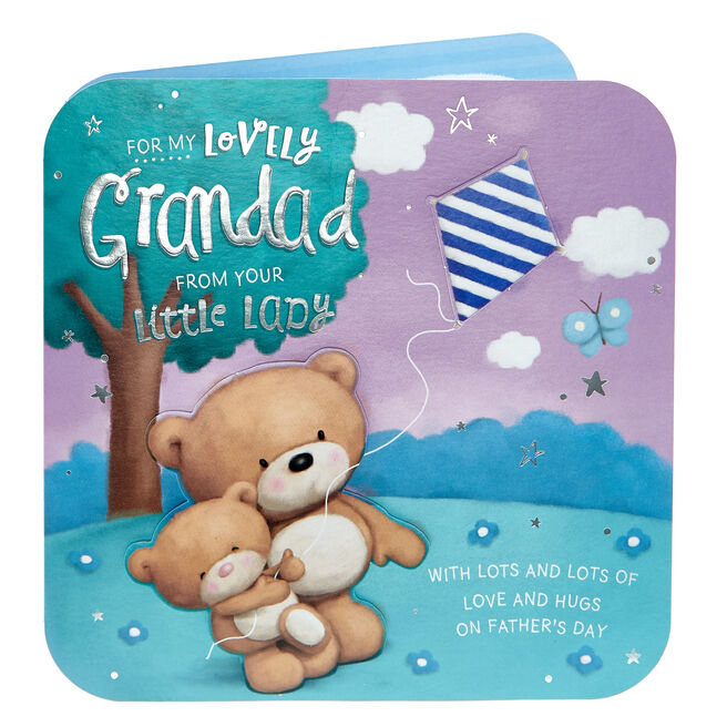 Hugs Bear Exquisite Collection Father's Day Card - Lovely Grandad