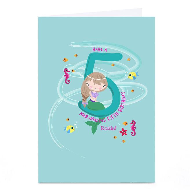 Personalised Rachel Griffin Birthday Card - 5, Mer-mazing Birthday