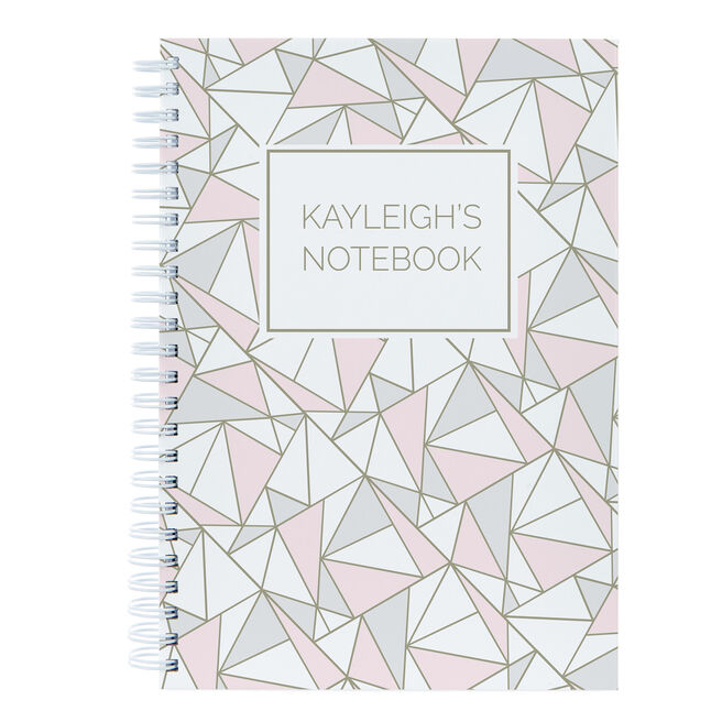 Personalised Notebook Shapes Pattern