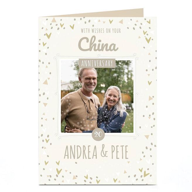 Personalised Anniversary Photo Card - China Anniversary