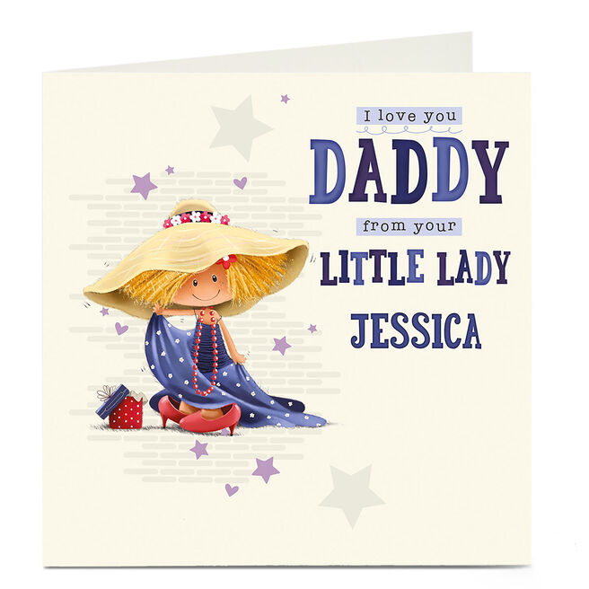 Personalised Card - From Your Little Lady