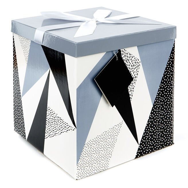 Extra-Large Flat-Pack Gift Box - Geometric
