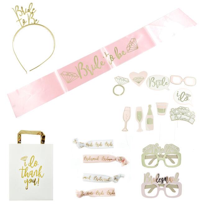 Bride To Be Hen Party Party Accessory Bundle - 20 Pieces