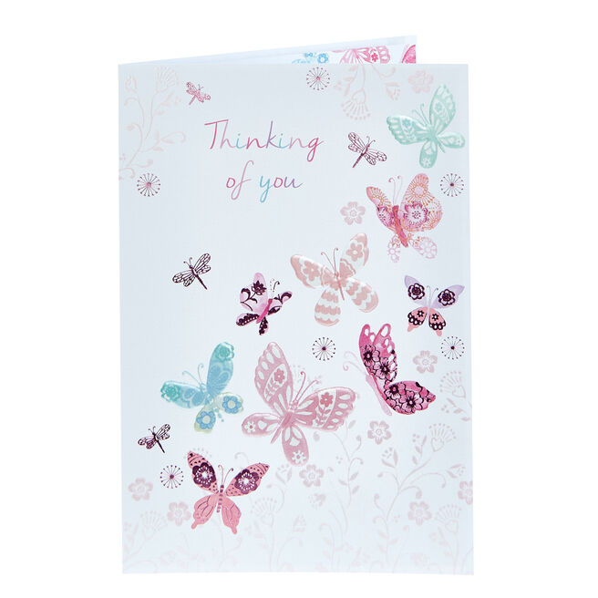 Thinking Of You Card - Butterflies