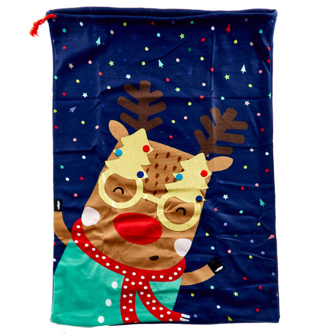 Cute Rudolph Christmas Sack