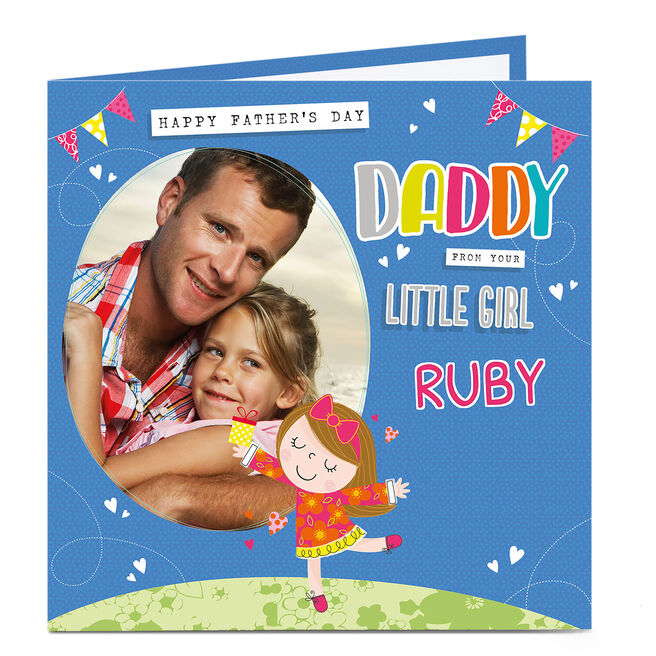 Photo Upload Father's Day Card - Daddy's Little Girl