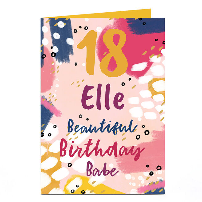 Personalised 18th Birthday Card - Beautiful Birthday Babe