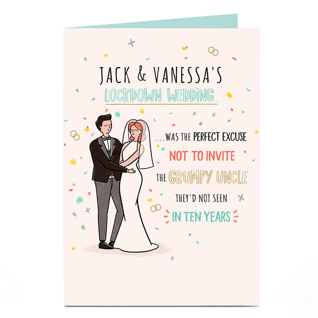 Personalised Lockdown Wedding Card - The Grumpy Uncle