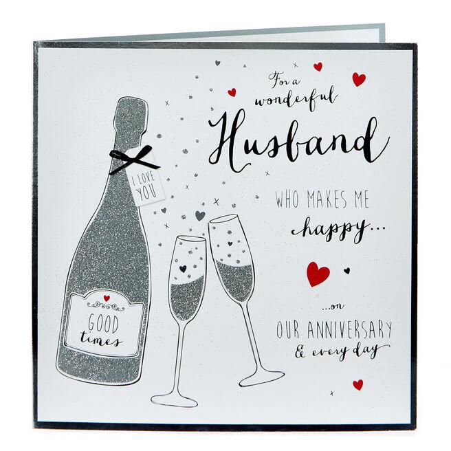 Platinum Collection Anniversary Card - Wonderful Husband