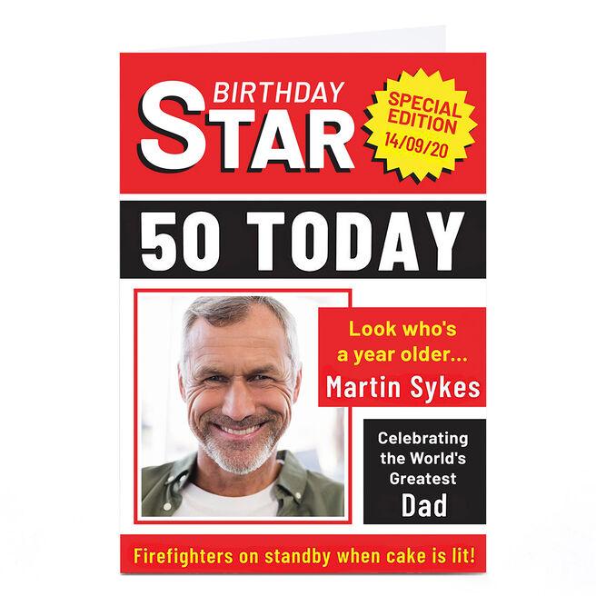 Personalised Birthday Photo Card - Birthday Star