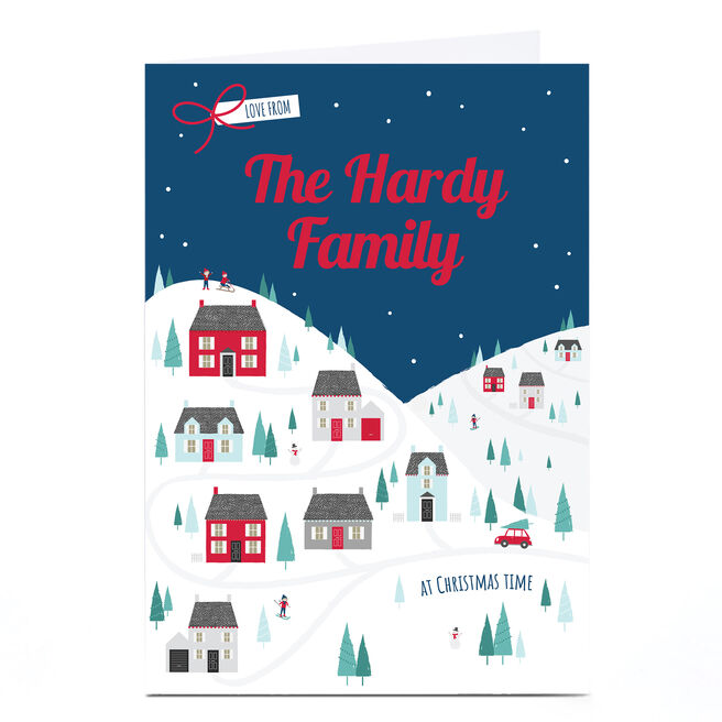 Personalised Christmas Card - Love From 'Family Name