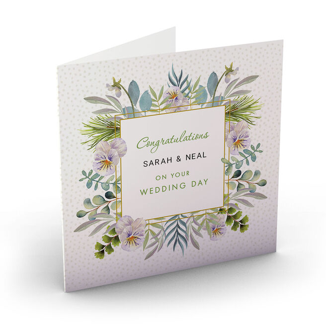 Personalised Wedding Card - Botanical Congratulations