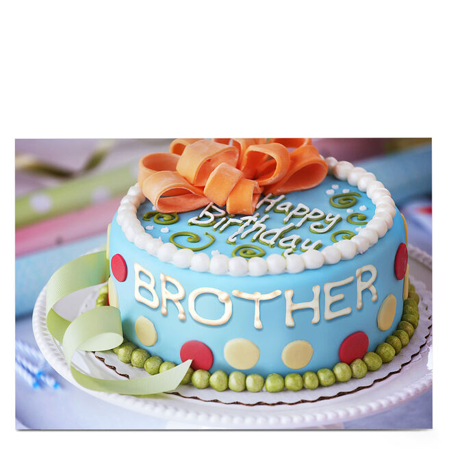 Personalised Birthday Card - Cake Icing [Brother]