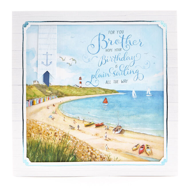 Exquisite Collection Birthday Card - Brother Seaside