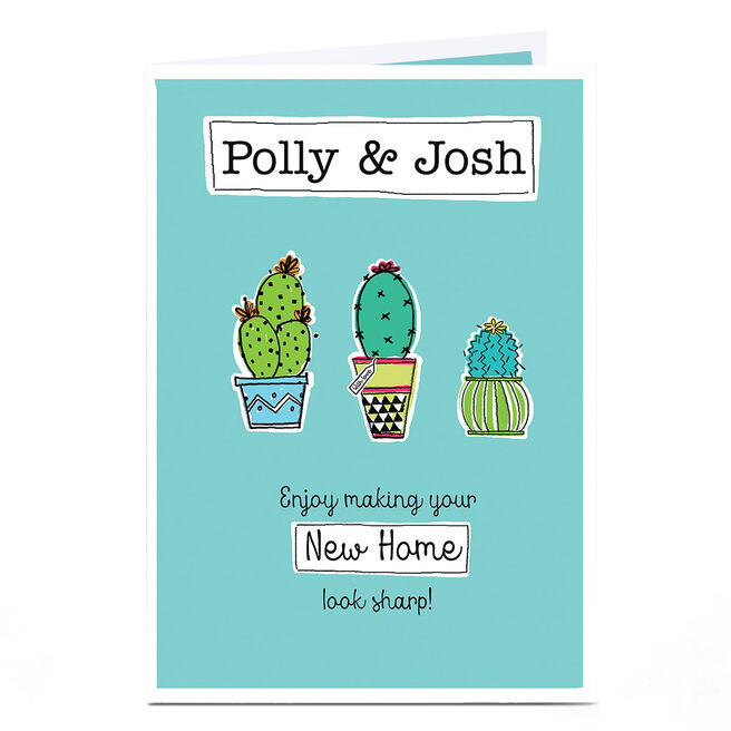 Personalised New Home Card - Three Cactuses