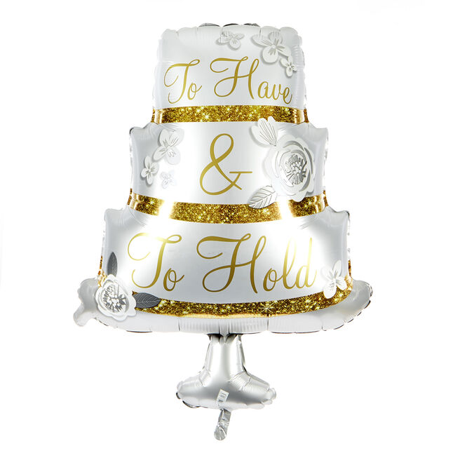 Large To Have & To Hold 28-Inch Foil Helium Wedding Balloon