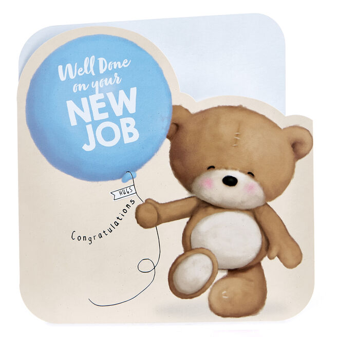 Platinum Collection Hugs Bear New Job Card - Well Done