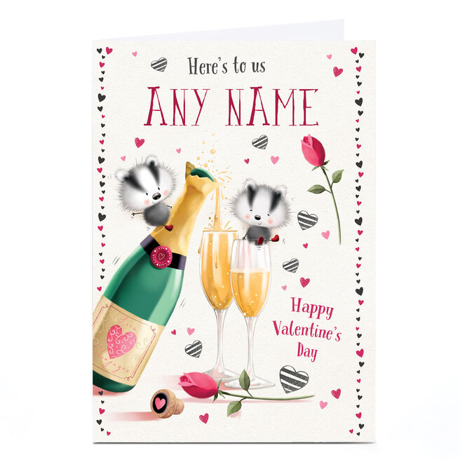 Personalised Valentine's Card - Here's To Us