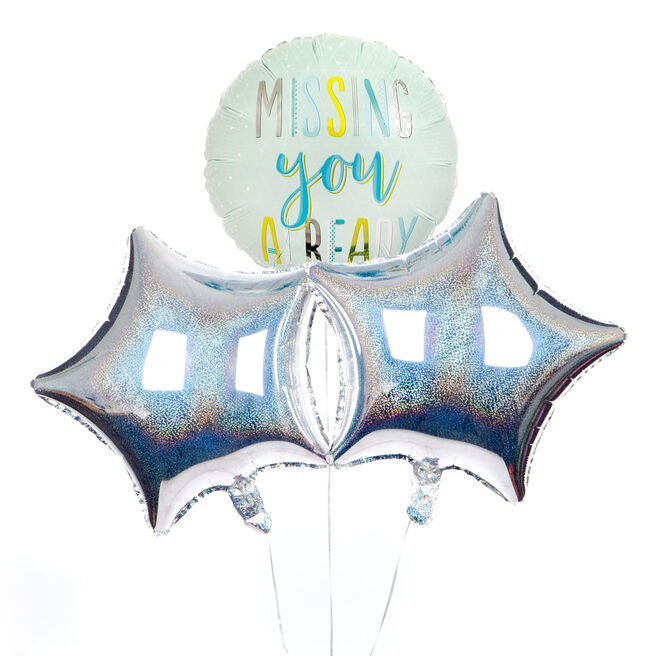 Missing You Already Balloon Bouquet - DELIVERED INFLATED!