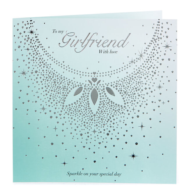 Platinum Collection Birthday Card - Girlfriend With Love