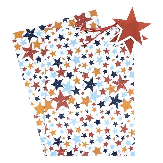 Colourful Stars Gift Wrap & Tag Set