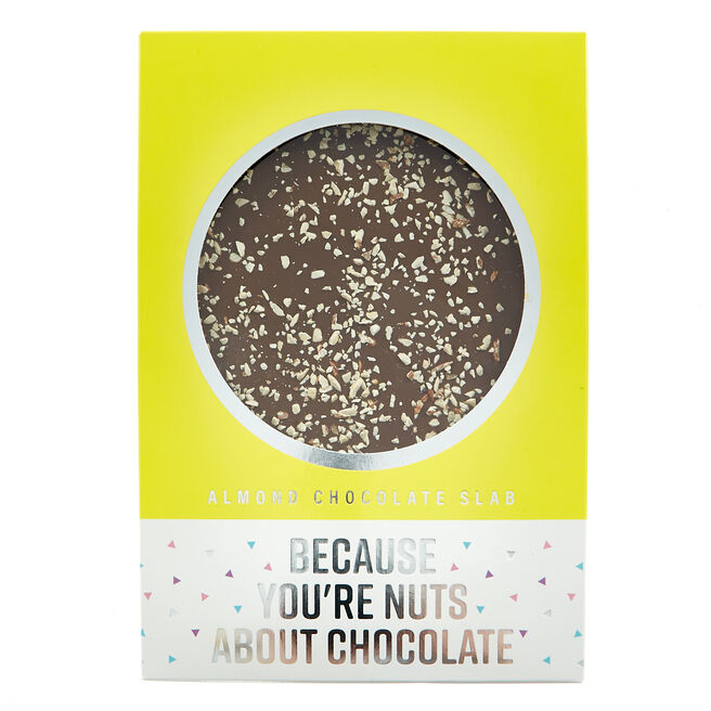 Almond Chocolate slab - Nuts About Chocolate