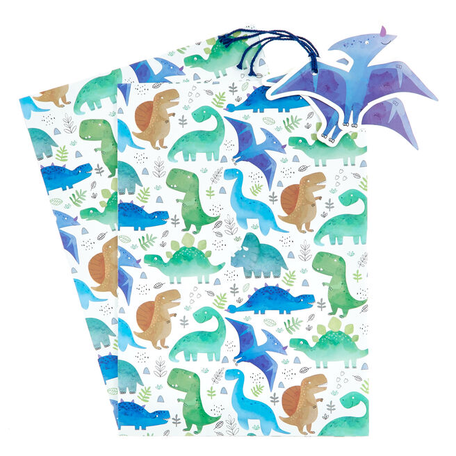 Dinosaurs Gift Wrap & Tag Set