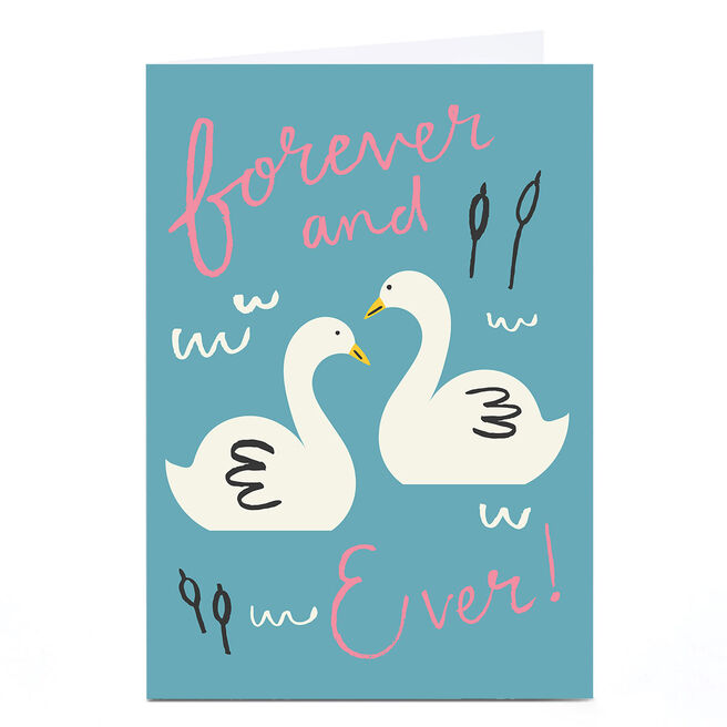 Personalised Ashley Le Quere Card - Two Swans