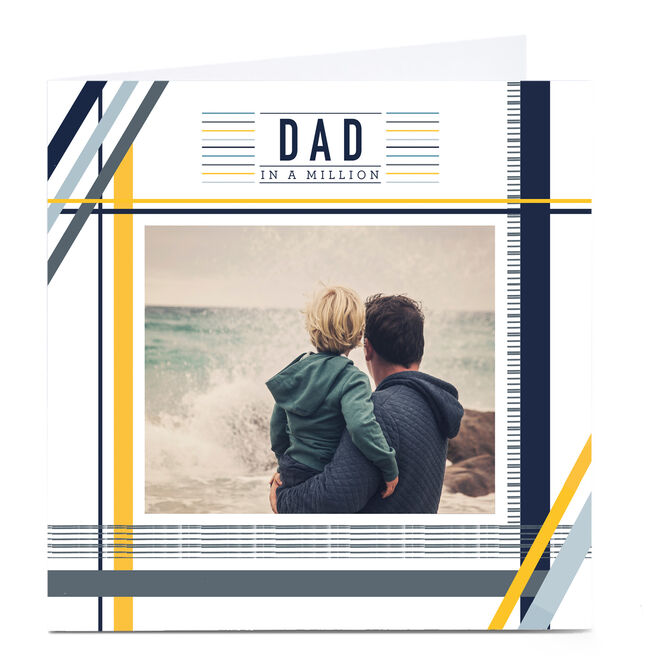 Personalised Father's Day Card - Dad In A Million