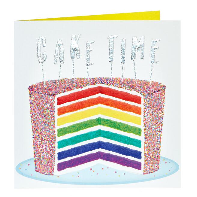 Birthday Card - Rainbow Cake Time