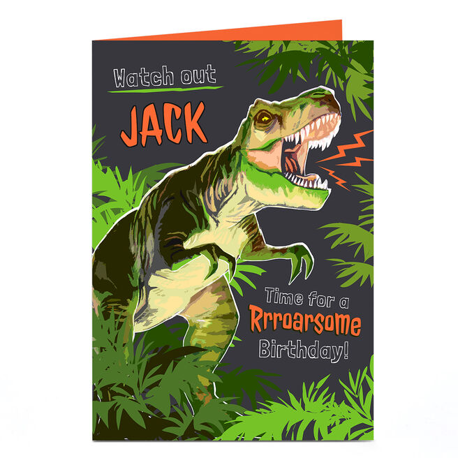 Personalised Birthday Card - Dinosaur Birthday