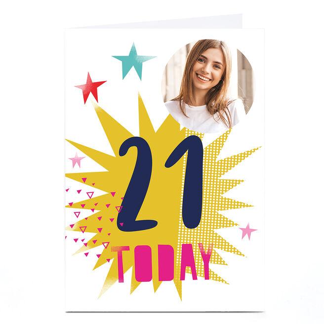 Photo Hello Munki Birthday Card - Age 21